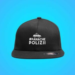 Cap Panache Polizii. Die Cap sieht man von vorne.